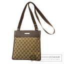 Authentic GUCCI  GGpattern Shoulder bag Leather x canvas
