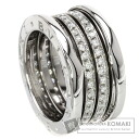 Authentic BVLGARI  B-zero1 M Diamond Ring 18K White Gold