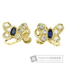 Authentic Van Cleef & Arpels  Sapphire / Diamond Butterfly Earring 18K Yellow Gold
