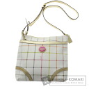 Authentic COACH  Heritage Tattersall F19175 Shoulder bag PVC