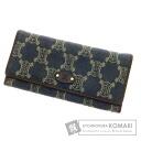 Authentic CELINE  Macadam pattern (With coin purse) Purse Denim
