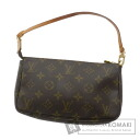 Authentic LOUIS VUITTON  Pochette access Soir M51979 Accessory pouch Monogram canvas
