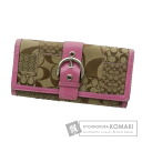 Authentic COACH  Signature Patchwork (With coin purse) Purse Canvas Leather