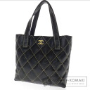 Authentic CHANEL  Wild stitch Shoulder bag Leather