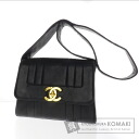 Authentic CHANEL  COCO Mark hung diagonally Shoulder bag Leather