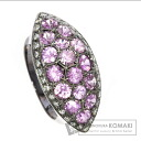3.03ct Pink Sapphire Ring 18K White Gold  9.4