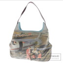 Authentic Anya Hindmarch  Print design Airport airplane Shoulder bag Canvas