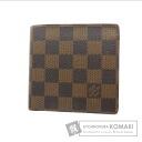Authentic LOUIS VUITTON  Porutofoiyu Marco N61675 (With coin purse) bi-fold wallet Damier Canvas