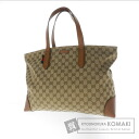 Authentic GUCCI  GGpattern Tote bag Canvas Leather