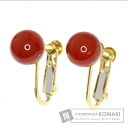 Coral Earring 18K Yellow Gold  2.2