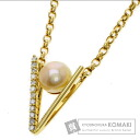 0.36ct Pearl Necklace 18K Yellow Gold  18.4