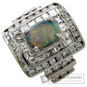 2.1ct Opal Ring 18K White Gold  11.2
