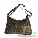 Authentic FENDI  Zucca pattern hung diagonally Shoulder bag Nylon