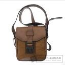 Authentic JUNKO KOSHINO  Seat angle Shoulder bag Leather