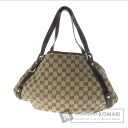Authentic GUCCI  GGpattern Shoulder bag Canvas Leather