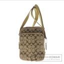 Authentic COACH  Signature 4270 multi-function Shoulder bag Canvas Leather