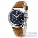 Authentic Breguet Aeronabaru Ref.3800 Watch stainless steel Leather Self-winding Men