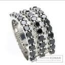2.5ct Diamond Black Diamond Ring 18K White Gold  11.8