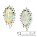 0.83ct Opal Earring PlatinumPT900  Five