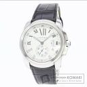 Authentic CARTIER Kariburu de Cartier Watch stainless steel Leather Mechanical Automatic Men