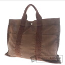 Authentic HERMES  Her Line Tote MM Tote bag Canvas