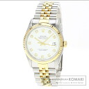 Authentic ROLEX Oyster Perpetual Datejust 16233G Overhauled Watch stainless steel 18K Yellow Gold  Men