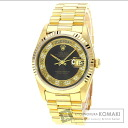 Authentic ROLEX Oyster Perpetual Day-Date 18238MR Overhauled Watch 18K Yellow Gold   Men