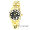 Authentic ROLEX Oyster Perpetual Datejust 69178LB after Bezel Watch 18K Yellow Gold   Ladies