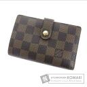 Authentic LOUIS VUITTON  Porutomone-Vu~ienowa N61664 (With coin purse) bi-fold wallet Damier Canvas