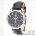 Authentic HERMES Arceau Chrono Watch Leather SS Self-winding Men