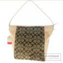 Authentic COACH  signature Shoulder bag Canvas x Leather