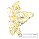Authentic MIKIMOTO  Pearl Butterfly Design Brooch 18K Yellow Gold