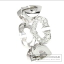 Authentic CARTIER  C Heart 1P diamond Ring 18K White Gold