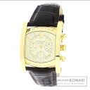 Authentic BVLGARI Assioma AA48C13GLDCH Watch 18K Yellow Gold Leather Self-winding Men