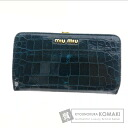 Authentic MIUMIU  with logo (With coin purse) Purse Leather