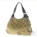 COACH signature pattern shoulder bag canvas women's fs04gm