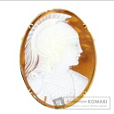 Cameo Length face Brooch 18K Yellow Gold  7.7