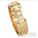 Authentic TIFFANY&Co.  Atlas ring diamond Ring 18K pink gold