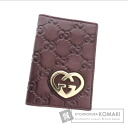 Authentic GUCCI  GGpattern Heart with logo Card case Leather