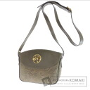 Authentic NINA RICCI  with logo with Shoulder bag Canvas Leather