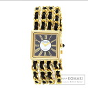 Authentic CHANEL Mademoiselle M Watch 18K Yellow Gold Leather  Ladies