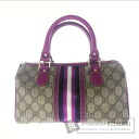 Authentic GUCCI  GGpattern Handbag Leather