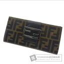 Authentic FENDI  Zucca pattern (With coin purse) Purse Canvas Leather