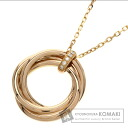 Authentic CARTIER  Trinity Diamond Necklace 18K Pink Gold