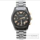Authentic Emporio Armani AR-1410 Watch Gold Plated Ceramic  Men