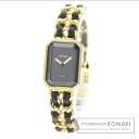 Authentic CHANEL Premiere L Watch Gold Plated Leather  Ladies