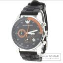 Authentic Emporio Armani AR-5878 Watch SS Rubber  Men