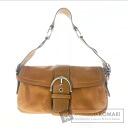 Authentic COACH  Logo with Keychain Shoulder bag Leather