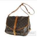 Authentic LOUIS VUITTON  Saumur 35 L M42254 Shoulder bag Monogram canvas