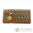 Authentic FENDI  Logo pattern (With coin purse) Purse Canvas